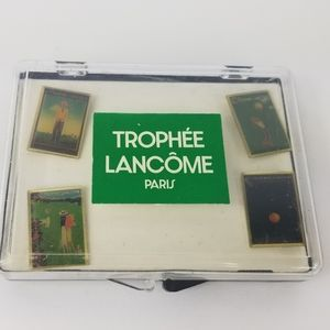 4 trophee Lancome golf pins brooches with box